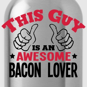this guy is an awesome bacon lover 2col - Water Bottle