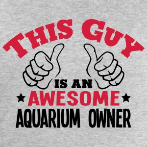 this guy is an awesome aquarium owner 2c - Men's Sweatshirt by Stanley & Stella