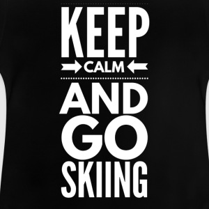 KEEP CALM AND GO SKIING Manga larga - Camiseta bebé