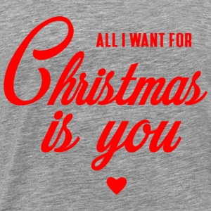 ALL I WANT FOR CHRISTMAS IS YOU Langarmshirts - Männer Premium T-Shirt