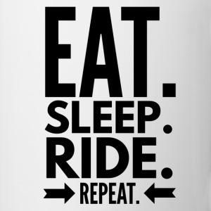 Eat Sleep Ride Repeat Magliette - Tazza