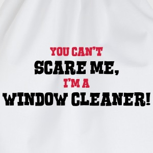 window cleaner cant scare me - Drawstring Bag
