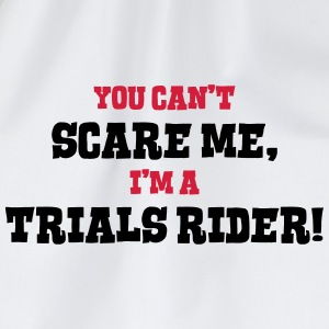 trials rider cant scare me - Drawstring Bag