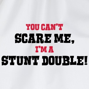 stunt double cant scare me - Drawstring Bag