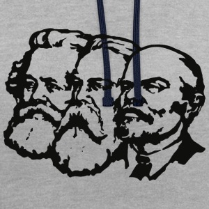 Lenin, Marx, Engels - Sweat-shirt contraste