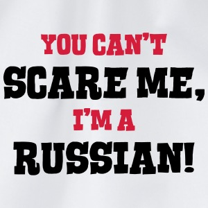 russian cant scare me - Drawstring Bag