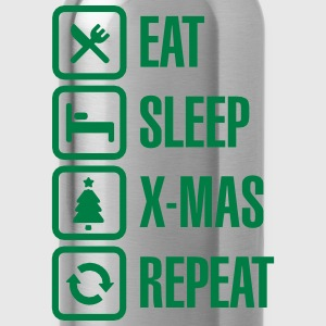 Eat - sleep - X-mas/Christmas - repeat 2 Magliette - Borraccia