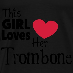 This Girl Loves Her Trombone Tops - Mannen Premium T-shirt