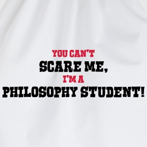 philosophy student cant scare me - Drawstring Bag