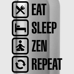 Eat -  sleep - zen - repeat T-Shirts - Trinkflasche
