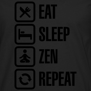 Eat -  sleep - zen - repeat T-Shirts - Männer Premium Langarmshirt