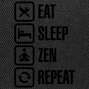 Eat -  sleep - zen - repeat T-Shirts - Snapback Cap