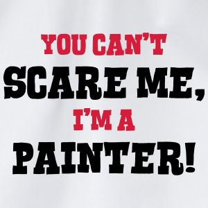 painter cant scare me - Drawstring Bag