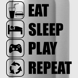 Eat,sleep,play,repeat Nerd Geek Gamer Gaming - Vattenflaska
