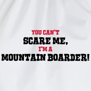mountain boarder cant scare me - Drawstring Bag