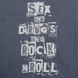 SEX DRUGS AND ROCK'N ROLL Langarmshirts - Schultertasche aus Recycling-Material