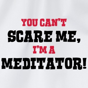 meditator cant scare me - Drawstring Bag