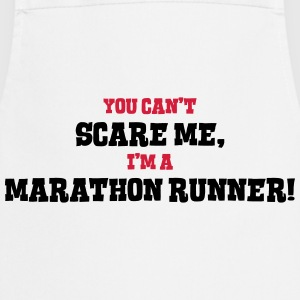 marathon runner cant scare me - Cooking Apron