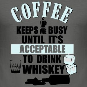 Coffee and whiskey Bags & Backpacks - Men's Slim Fit T-Shirt