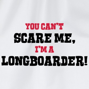 longboarder cant scare me - Drawstring Bag
