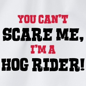 hog rider cant scare me - Drawstring Bag