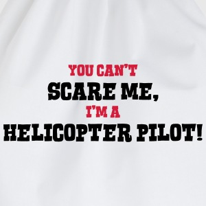 helicopter pilot cant scare me - Drawstring Bag