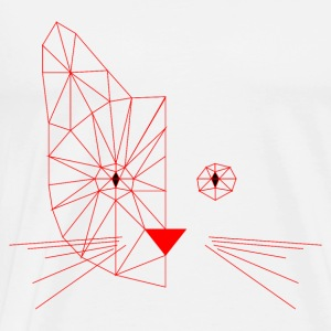Polygonal Cat Face Red Tops - Männer Premium T-Shirt