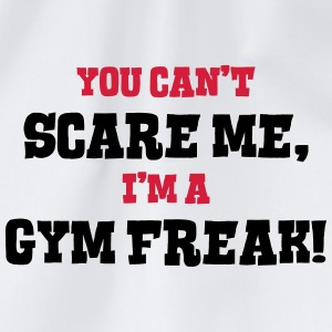 gym freak cant scare me - Drawstring Bag