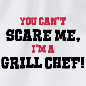 grill chef cant scare me - Drawstring Bag