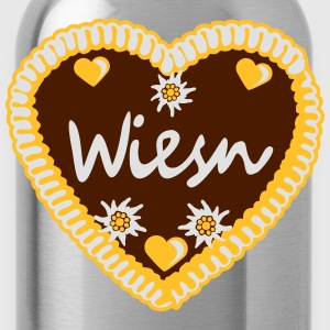 Flower, hearts, bavarian, blue, white, octoberfest T-Shirts - Water Bottle