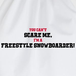 freestyle snowboarder cant scare me - Drawstring Bag