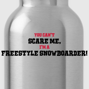 freestyle snowboarder cant scare me - Water Bottle