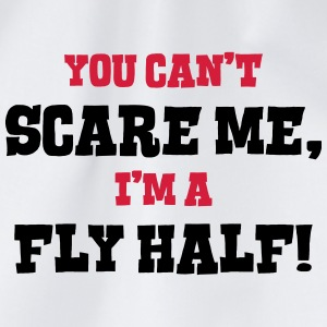 fly half cant scare me - Drawstring Bag