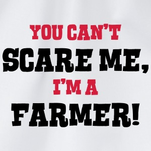 farmer cant scare me - Drawstring Bag