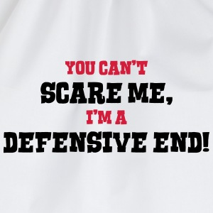 defensive end cant scare me - Drawstring Bag