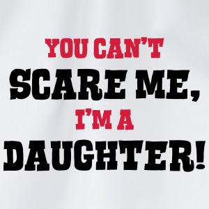 daughter cant scare me - Drawstring Bag