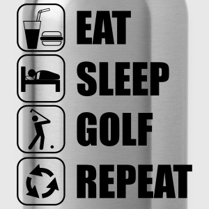 Eat,sleep,play,golf repeat Golf t-shirt  - Drinkfles
