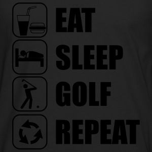 Eat,sleep,play,golf repeat Golf t-shirt  - Männer Premium Langarmshirt
