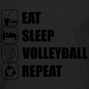 Eat sleep,play,volleyball repeat Volley T-shirt  - Men's Premium Longsleeve Shirt