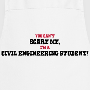 civil engineering student cant scare me - Cooking Apron