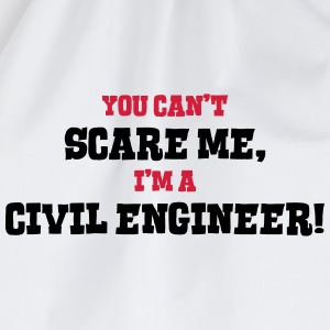 civil engineer cant scare me - Drawstring Bag