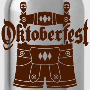 Writing text logo design lederhose tracht bavaria  T-Shirts - Water Bottle