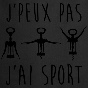 J'peux pas j'ai sport - Sweat humour citations - Tablier de cuisine