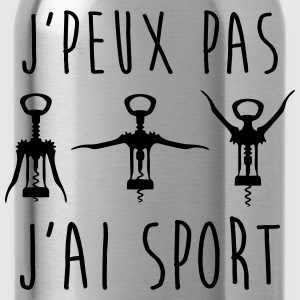 J'peux pas j'ai sport - Sweat humour citations - Gourde