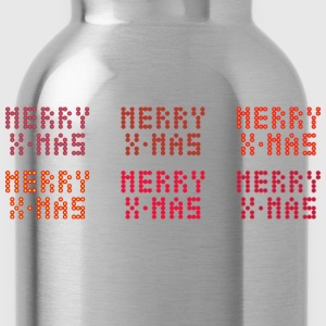 Merry X-mas of dots - Water Bottle
