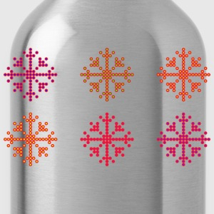 Snowflakes of dots - Water Bottle