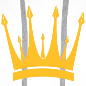 Crown King Krone König Couronne Roi Corona Kroon T-Shirts - Men's Premium Hoodie
