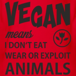 WHAT VEGAN MEANS Langarmshirts - Baby Bio-Kurzarm-Body