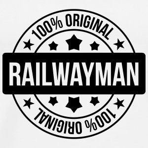 Railway Railwayman Cheminot Train Eisenbahn Mugs & Drinkware - Men's Premium T-Shirt