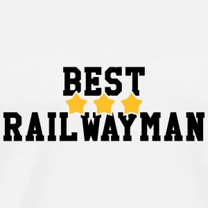 Railway Railwayman Cheminot Train Eisenbahn Baby Bodysuits - Men's Premium T-Shirt